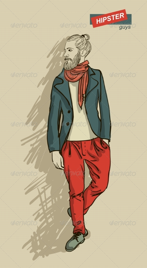 GraphicRiver Hipster Man in Fashion 7161271