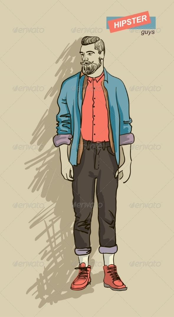 GraphicRiver Hipster Man in Fashion 7161290