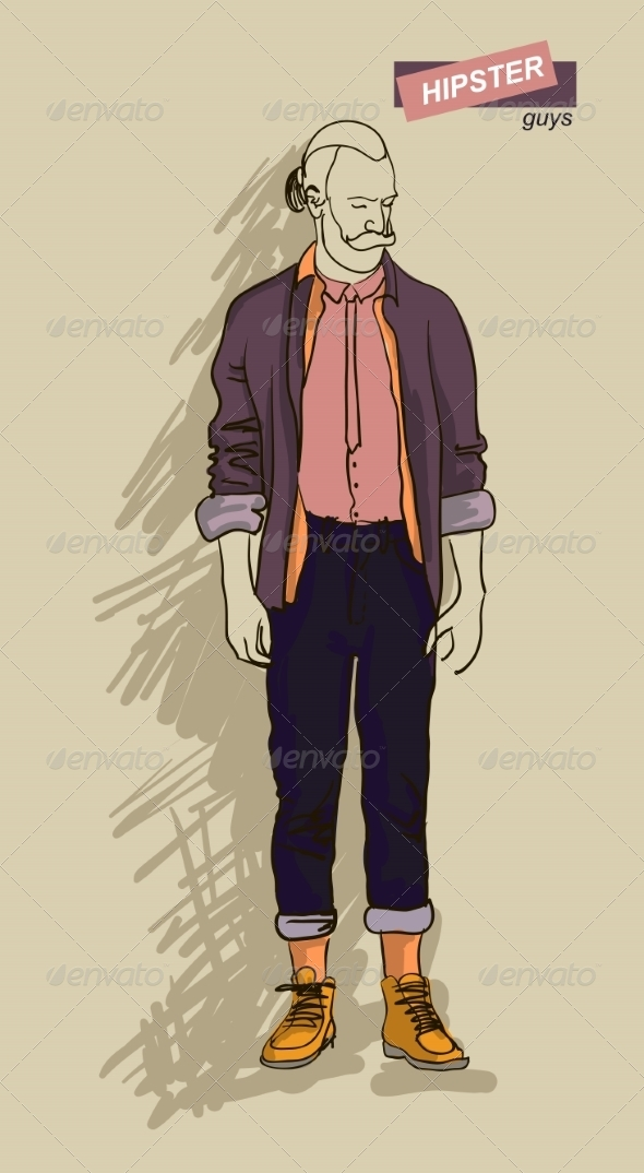 GraphicRiver Hipster Man in Fashion 7161301