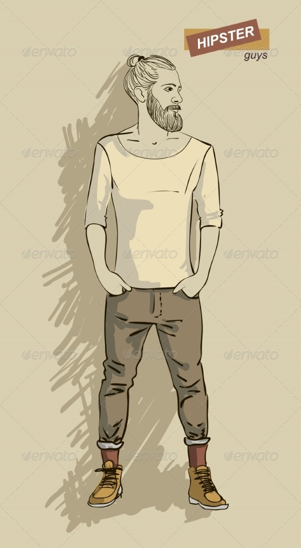 GraphicRiver Hipster Man in Fashion 7161305