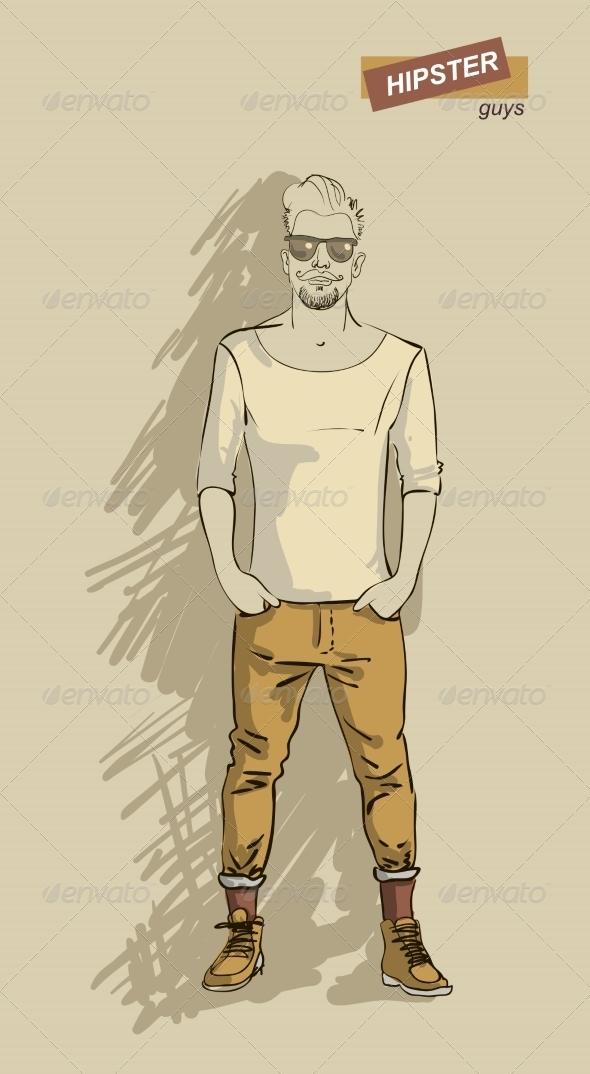 GraphicRiver Hipster Man in Fashion 7161315