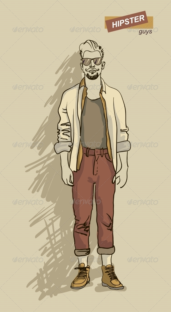 GraphicRiver Hipster Man in Fashion 7161328