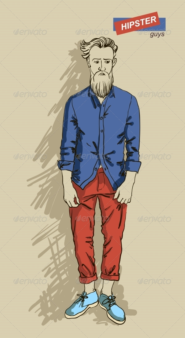 GraphicRiver Hipster Man in Fashion 7161336