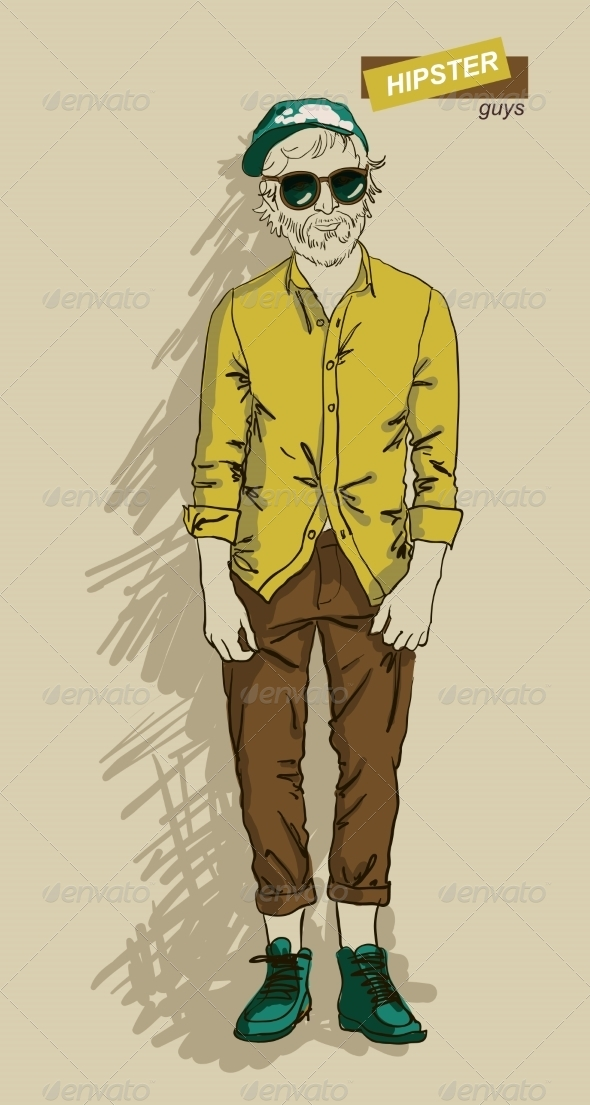 GraphicRiver Hipster Man in Fashion 7161338