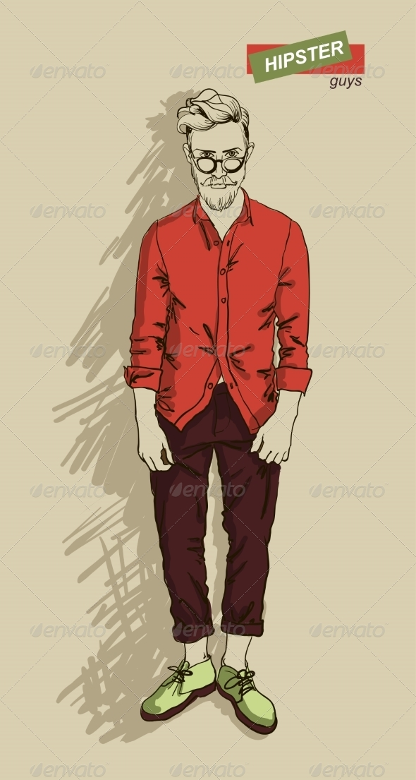 GraphicRiver Hipster Man in Fashion 7161339