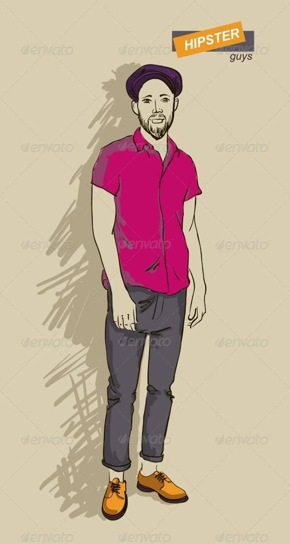 GraphicRiver Hipster Man in Fashion 7161369