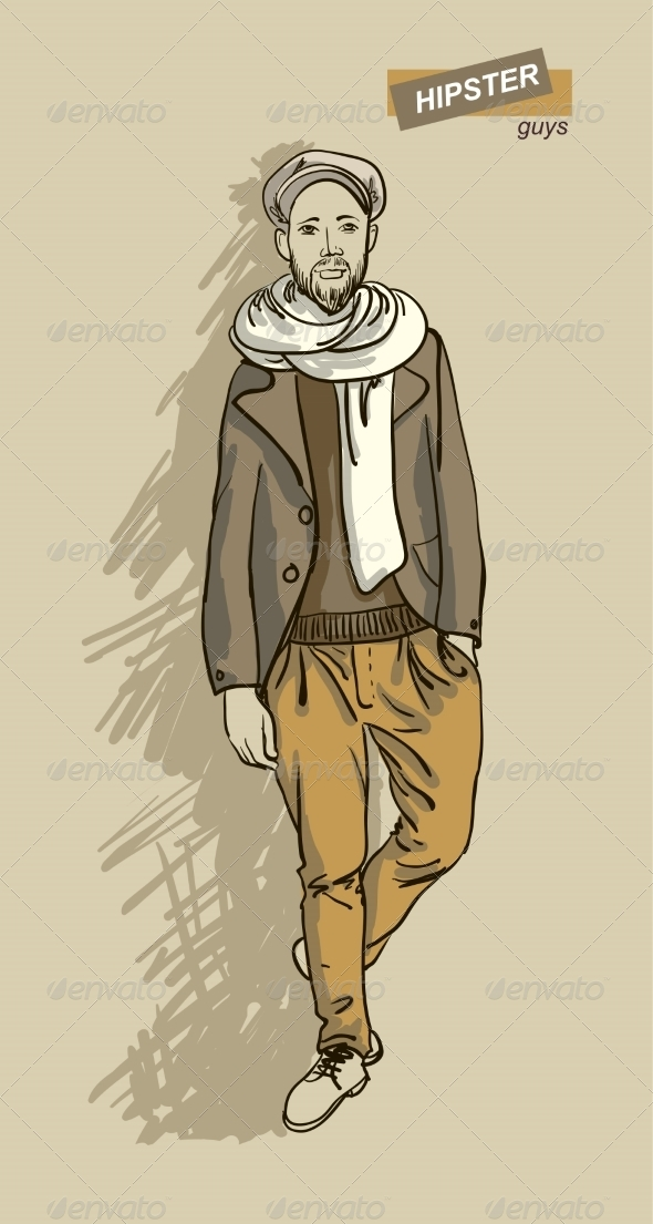 GraphicRiver Hipster Man in Fashion 7161373