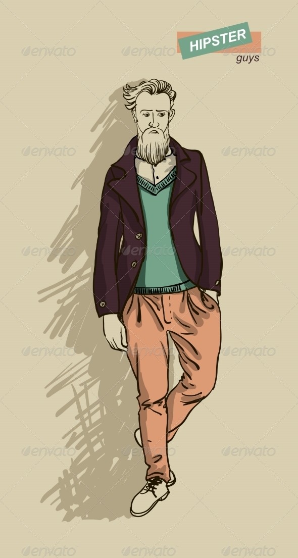 GraphicRiver Hipster Man in Fashion 7161377