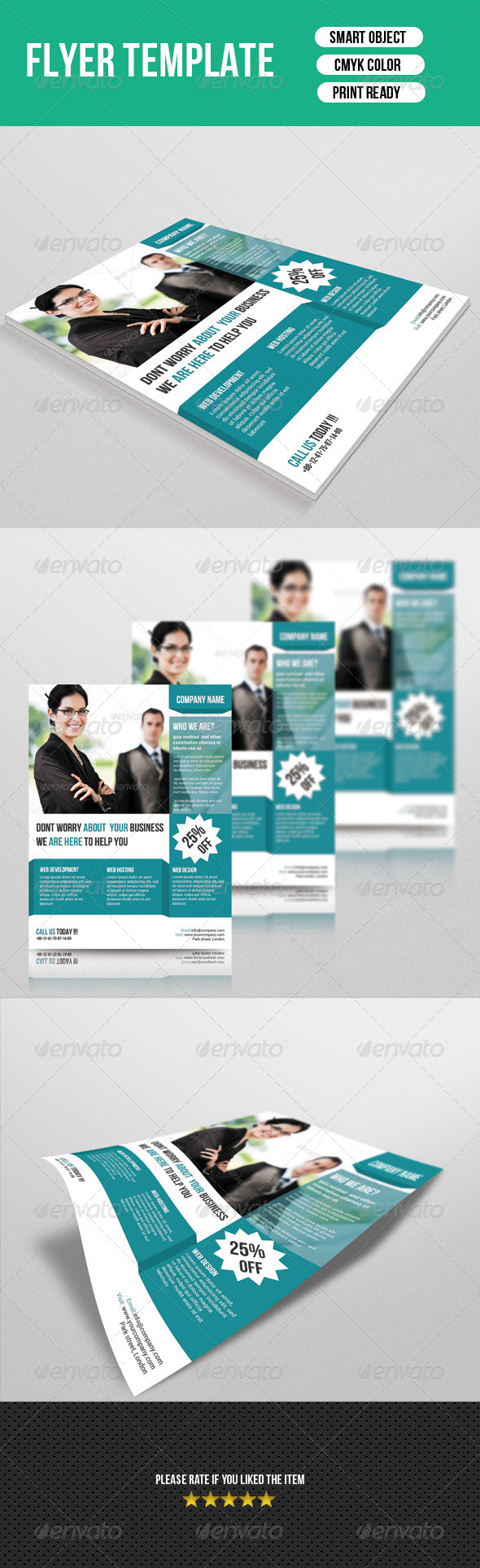 GraphicRiver Corporate Flyer Template 7161438