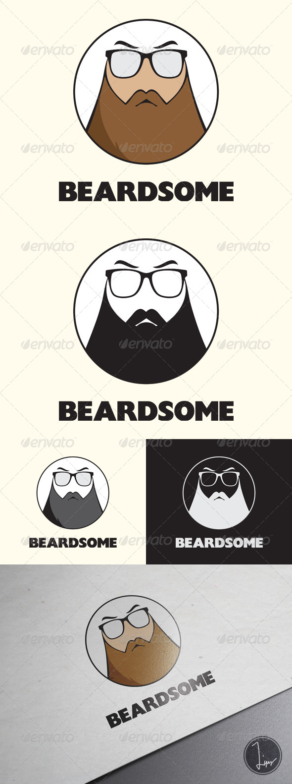 GraphicRiver Beardsome Logo 7161578