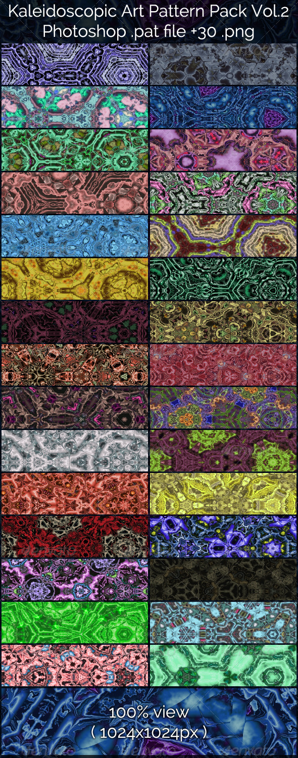 GraphicRiver Kaleidoscopic Art Patterns 2 7161713