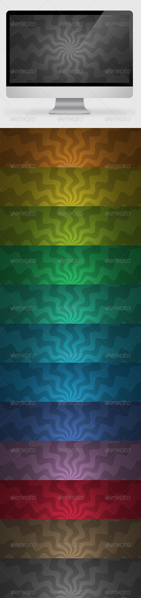 GraphicRiver Rays Backgrounds Wallpapers 2 7161760