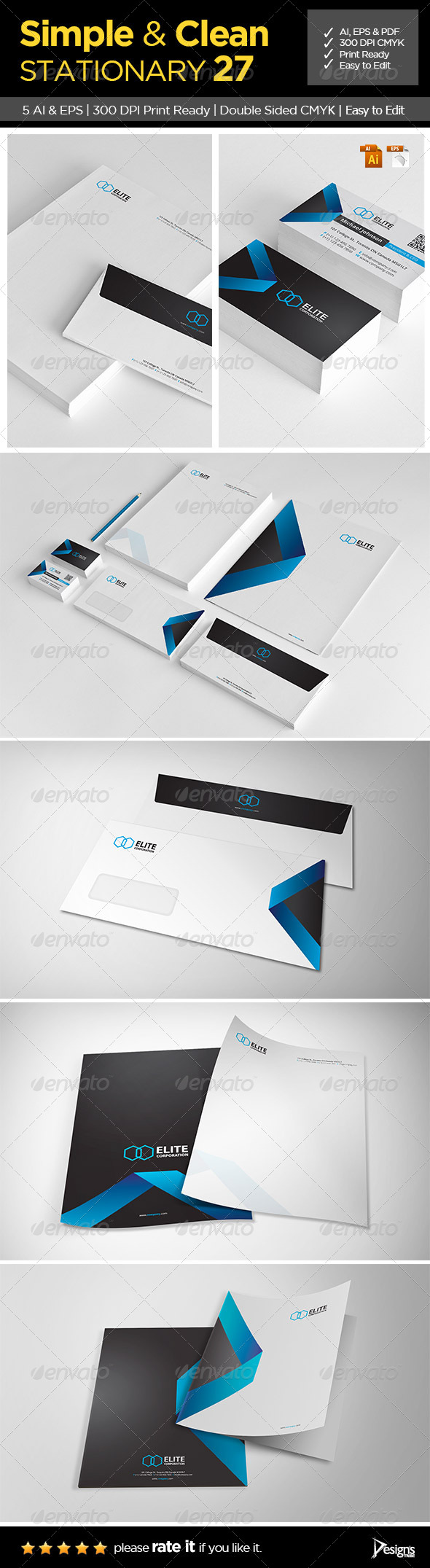 GraphicRiver Simple and Clean Stationary 27 7161840