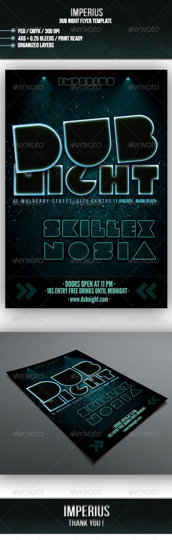 GraphicRiver Dub Night Flyer 7161857