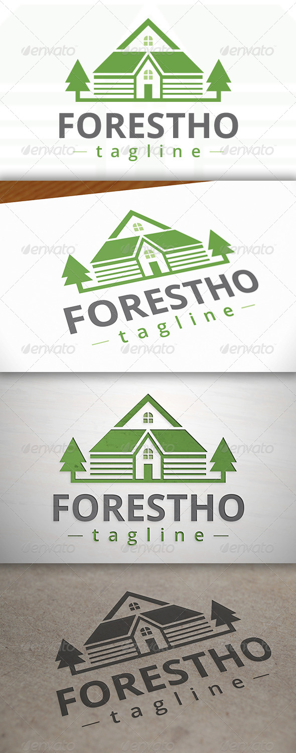 GraphicRiver Forest House Logo 7162208