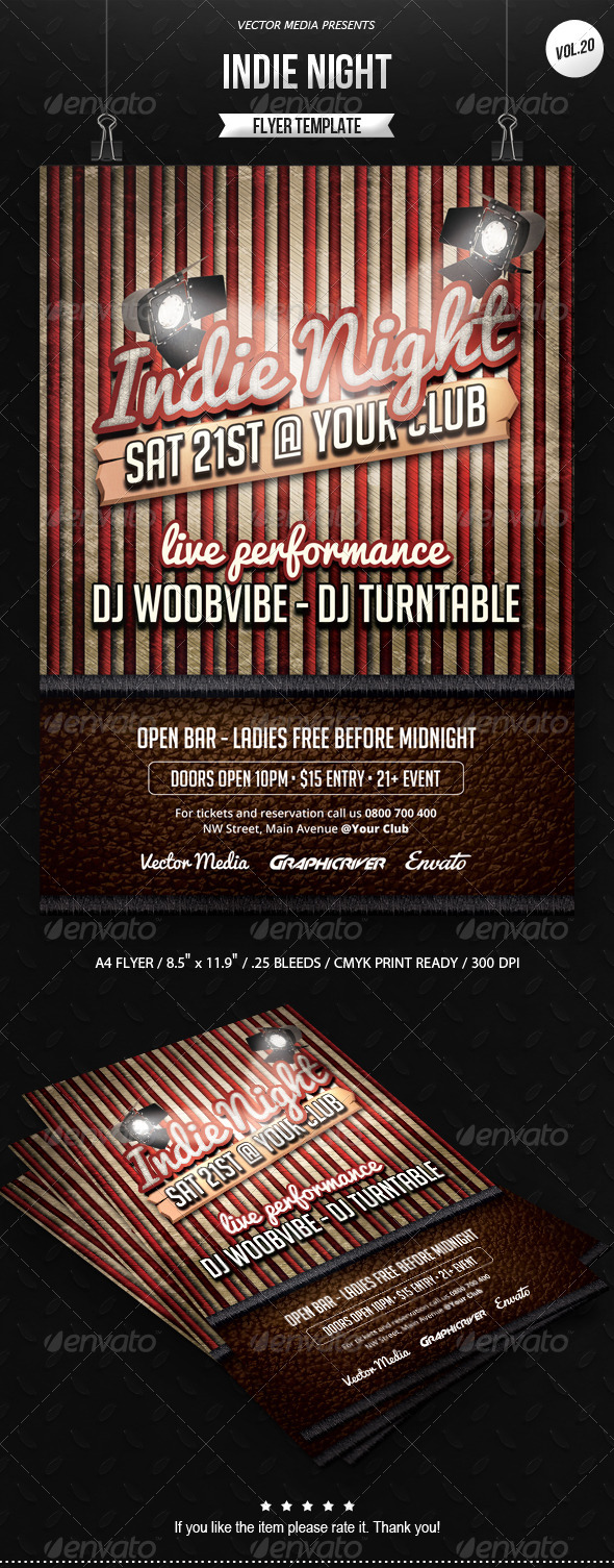 GraphicRiver Indie Night Flyer [Vol.20] 7162248