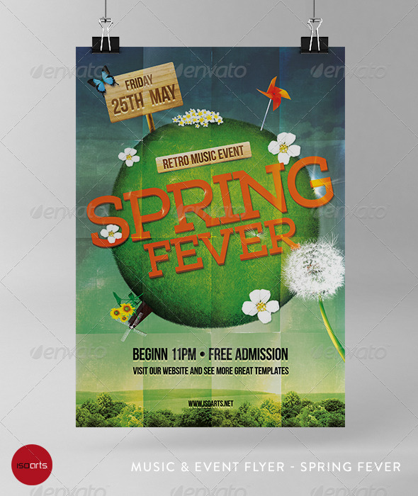 GraphicRiver Music & Event Flyer Spring Fever 7152693