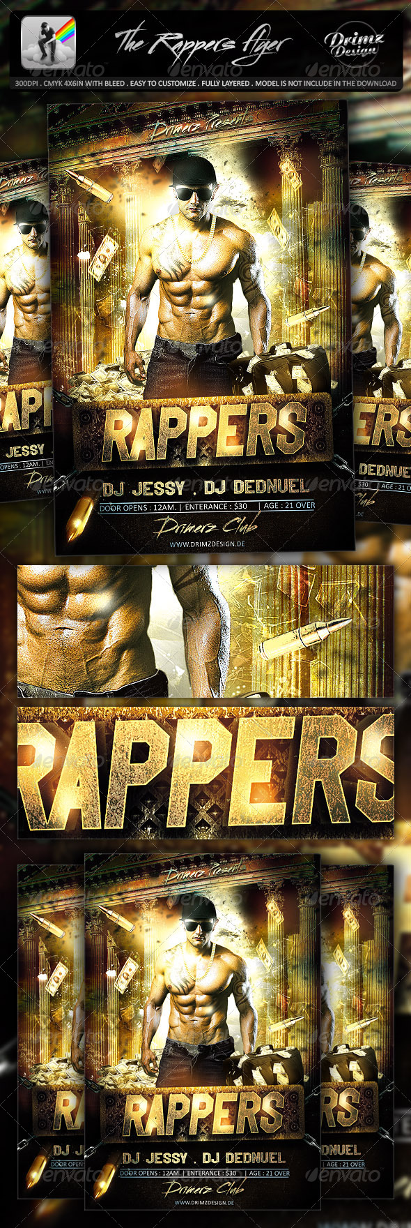 GraphicRiver The Rappers Flyer 7153523