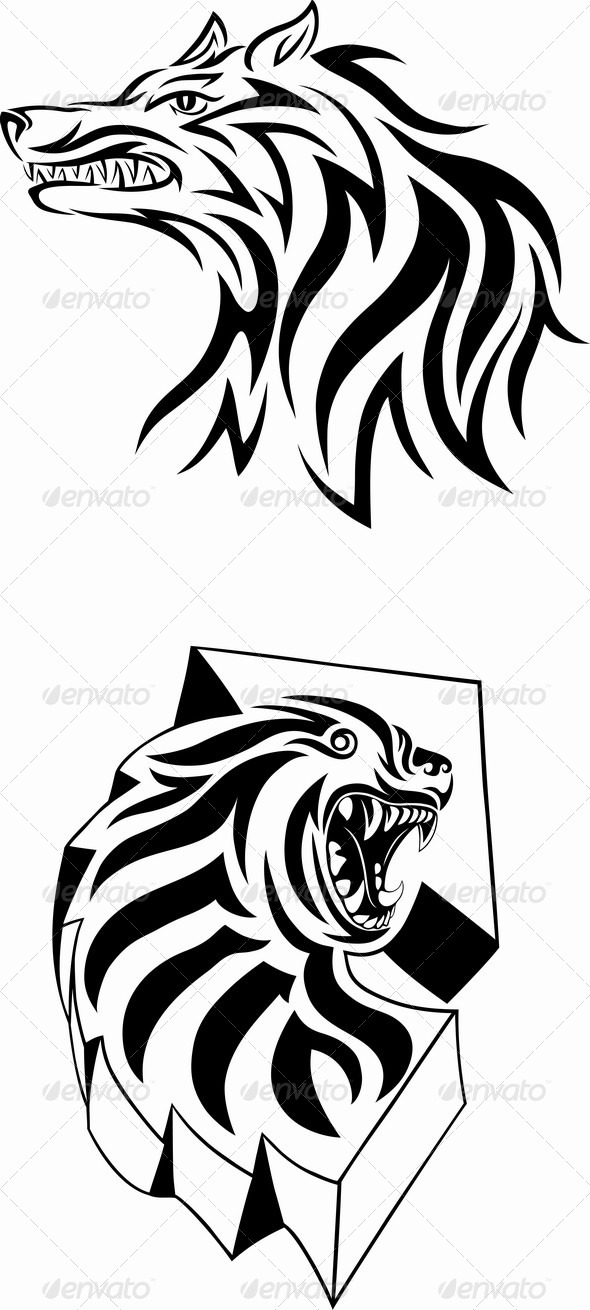 GraphicRiver Wolf Face 7162315