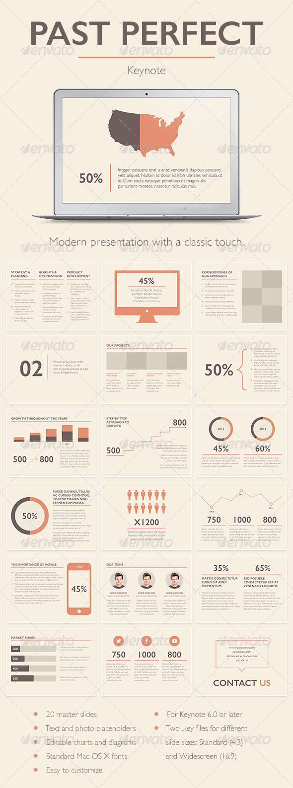GraphicRiver Past Perfect Keynote Template 7160648