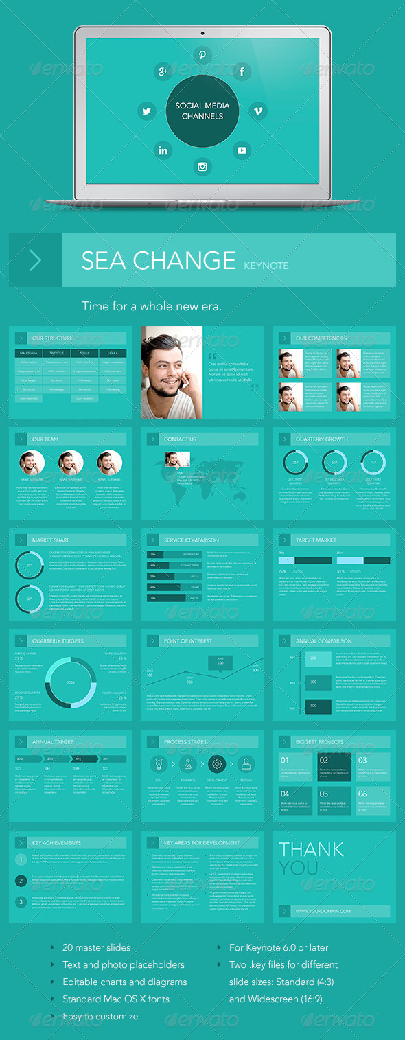 GraphicRiver Sea Change Keynote Template 7160789