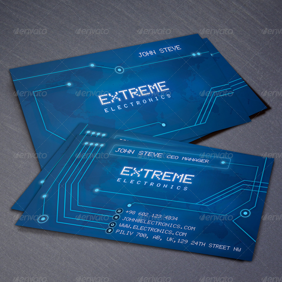 Electronics Business Card by oksrider