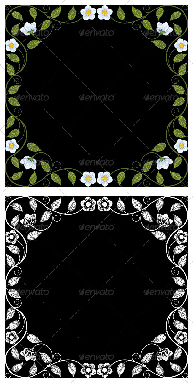 GraphicRiver Vintage Floral Frames 7162401
