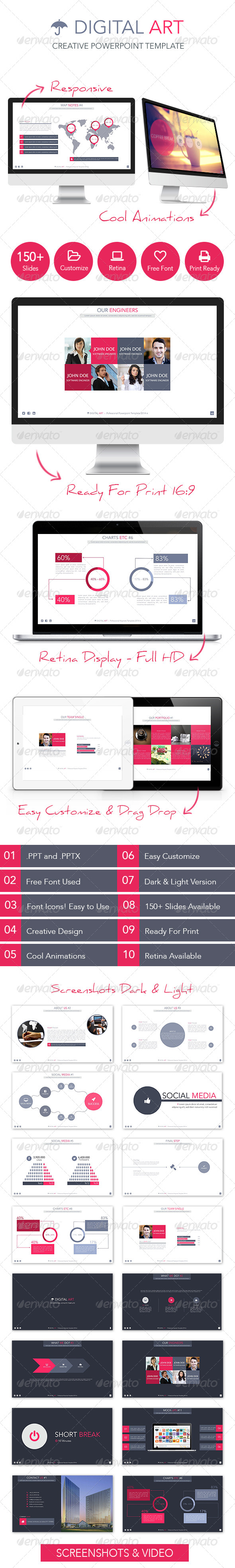 GraphicRiver Digital Art Creative Powerpoint Template 7118621