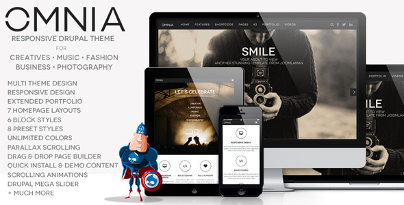 ThemeForest Omnia Multi Purpose Agency Drupal Theme 7163365
