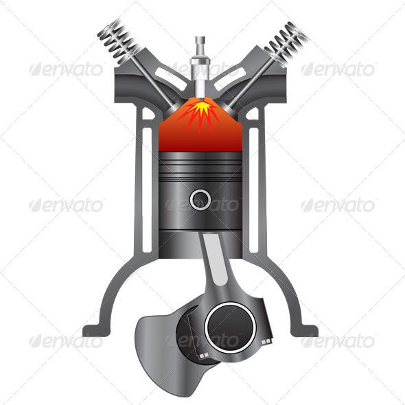 GraphicRiver Four Stroke Engine-Power 7155677
