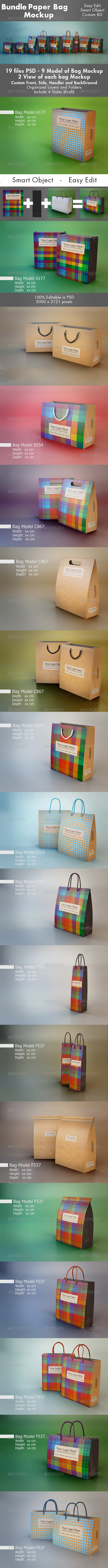 GraphicRiver Mockup Pack Paper Bag Bundle 7142804