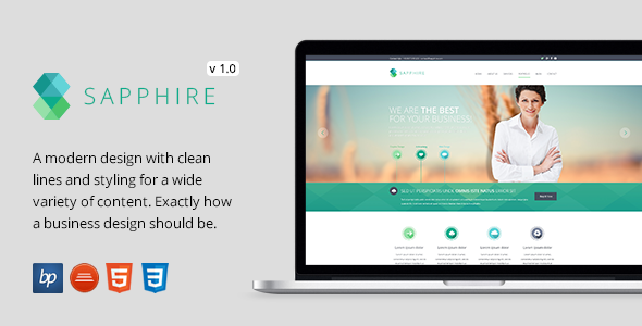 ThemeForest Sapphire Responsive HTML5 CSS3 Template 7163692