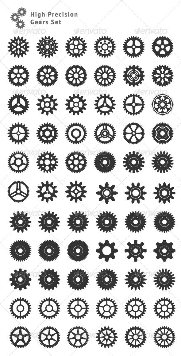 GraphicRiver Set of 66 High Precision Gears 7163698