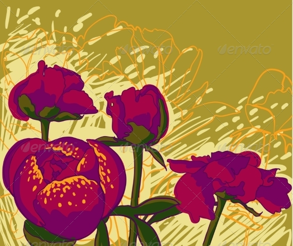GraphicRiver Peony Flower 7163707