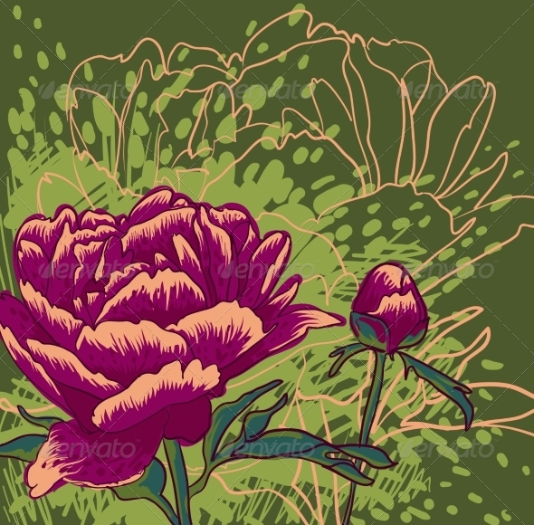 GraphicRiver Peony Flower 7163716