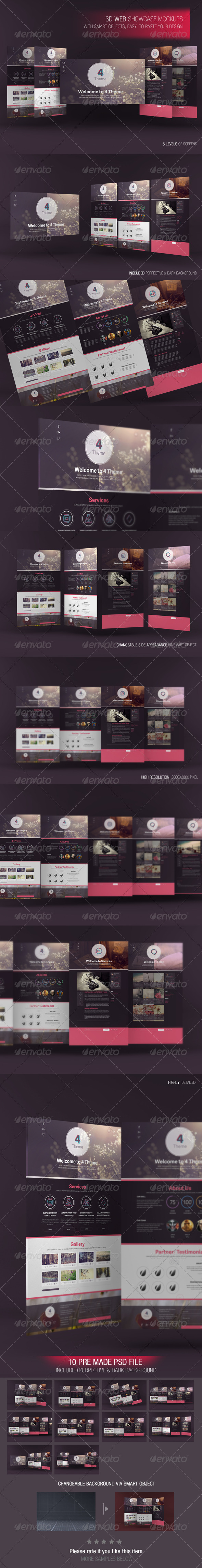 GraphicRiver 3D Web Showcase Mockups 7163919