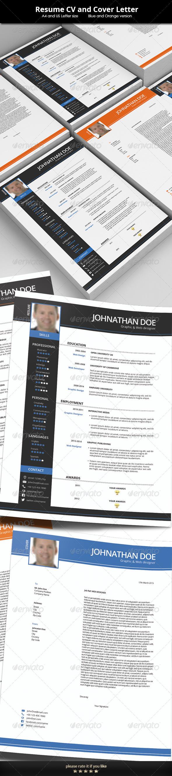 GraphicRiver Resume CV Template 7155787