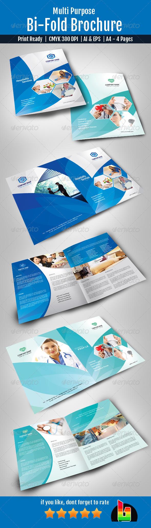 GraphicRiver Multi Purpose Bi-Fold Brochure 7163963