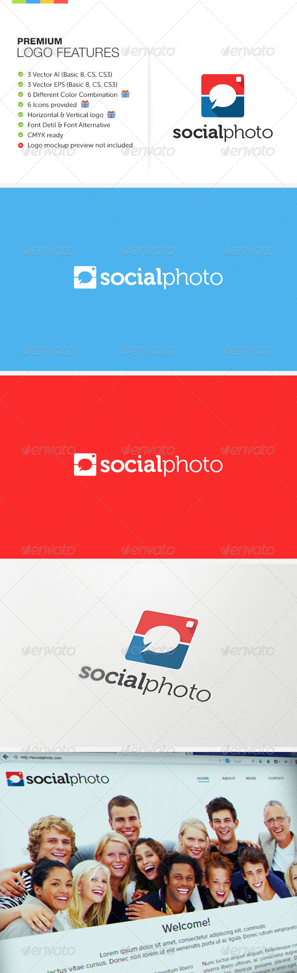 GraphicRiver Social Photo Logo 7155761