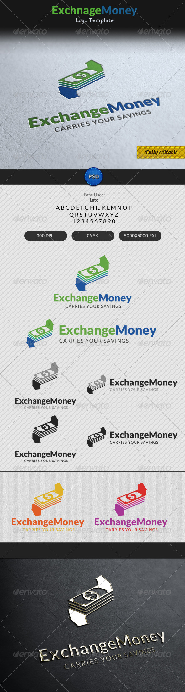 GraphicRiver Exchange Money Currency Transaction Logo 7164250