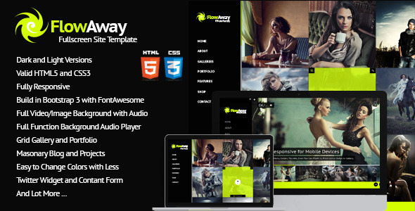 FlowAway Fullscreen Video/Image with Audio - Photography Creative