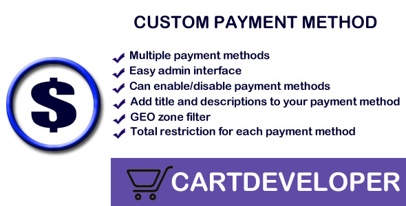 CodeCanyon Custom Payment methods for Opencart 7074047