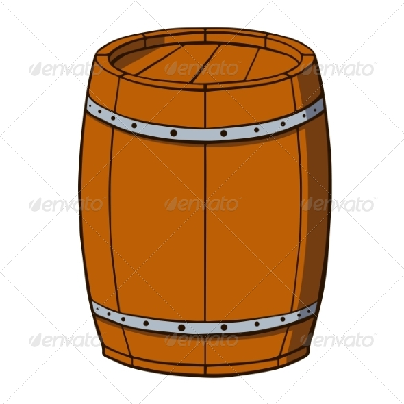 GraphicRiver Cartoon Barrel 7164351