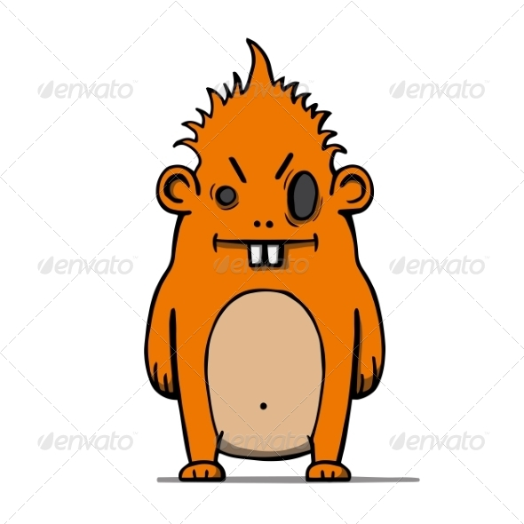 GraphicRiver Cartoon Hairy Monster 7164362