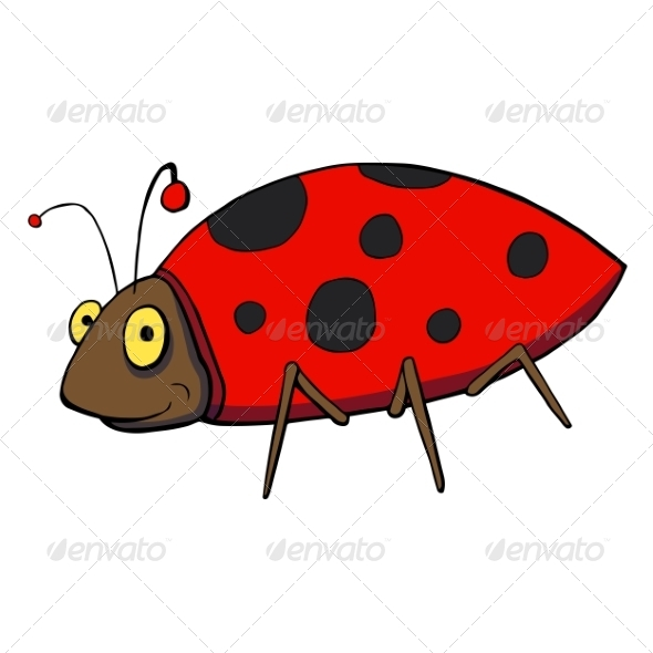 GraphicRiver Ladybug Cartoon 7164370