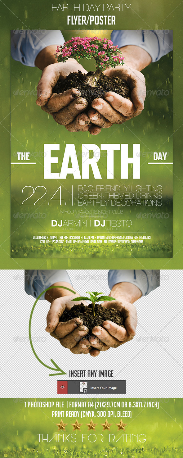 GraphicRiver Earth Day Party Flyer Poster 7164482