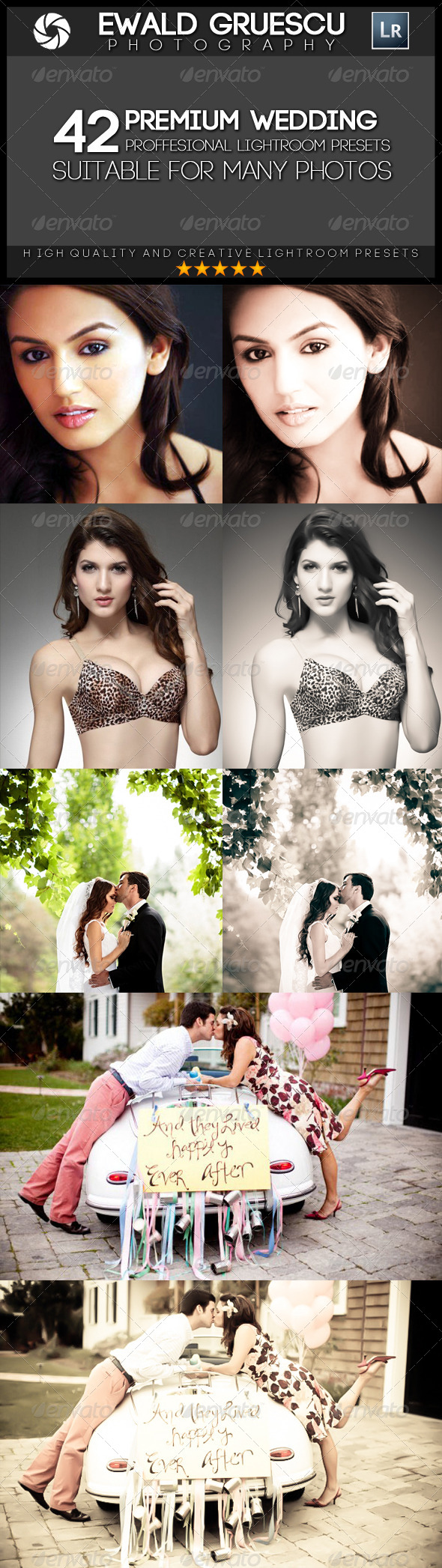 GraphicRiver 42 Wedding Style Lightroom Presets 7164488
