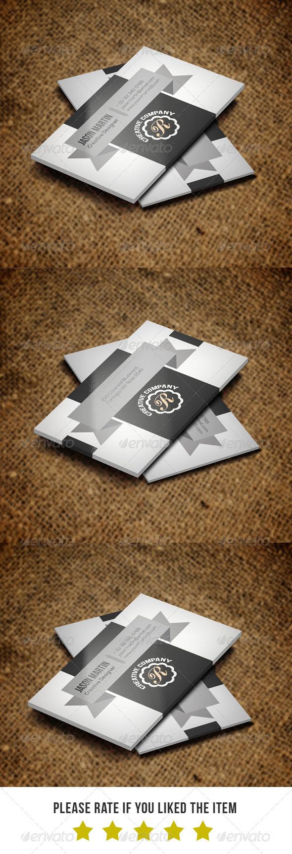GraphicRiver Creative Retro Business Card BNA 005 7155513