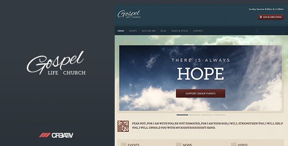 Gospel Premium Responsive WordPress Theme