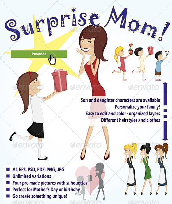 GraphicRiver Surprise Mom 7165129